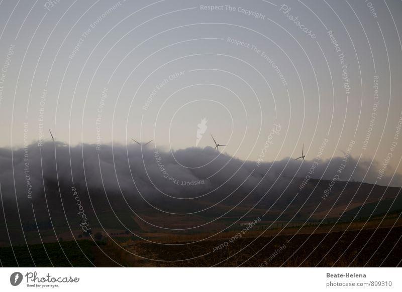 Sky Nature Blue Summer Landscape Dark Gray Brown Energy industry Weather Wild Fog Wind Esthetic Force