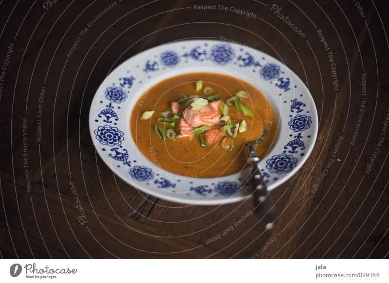 pumpkin soup Food Fish Vegetable Soup Stew Pumpkin soup Nutrition Lunch Organic produce Plate Spoon Healthy Eating Fresh Delicious Natural Appetite Wooden table