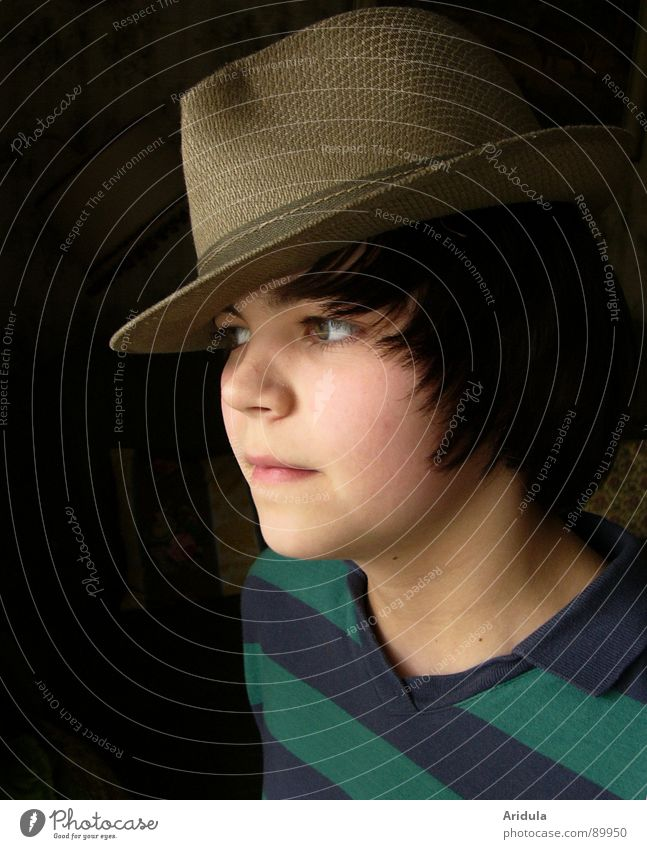 Child Youth (Young adults) Face Boy (child) Cool (slang) Concentrate Hat
