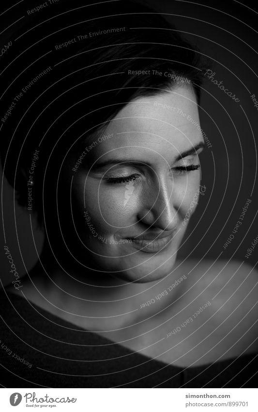 portrait Feminine Life Face 1 Human being Emotions Joy Happy Contentment Joie de vivre (Vitality) Passion Trust Safety (feeling of) Secrecy Warm-heartedness