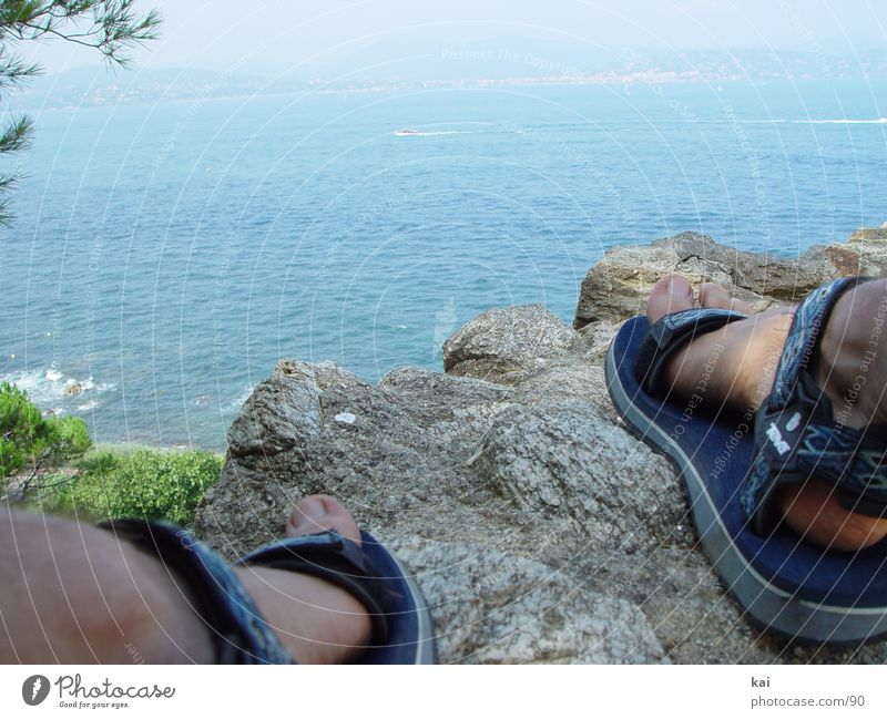 Relaxation Stone Coast Rock Vantage point Sandal Vacation & Travel Ocean Strait Vacation photo Vacation destination Rocky coastline
