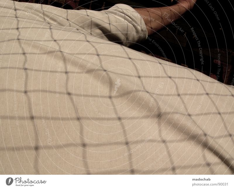 Human being Man White Arm Masculine T-shirt Net Grating Grid