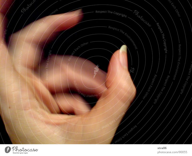 Human being Hand Black Movement Skin Fingers Speed Fingernail