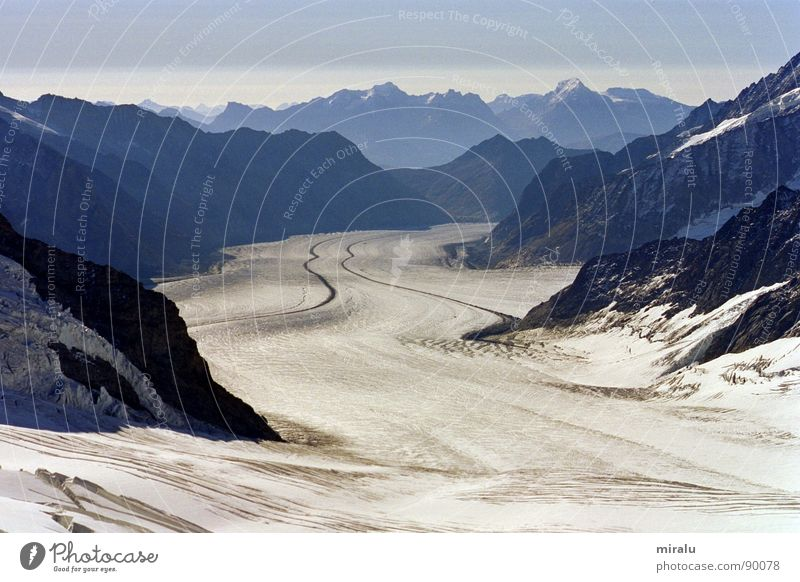 Snow Mountain Ice Switzerland Alps Glacier World heritage Aletsch glacier