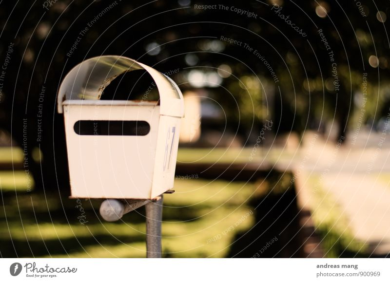 mail Mailbox Card Letter (Mail) Write Wait Expectation Communicate Empty Full Colour photo Exterior shot Blur Shallow depth of field