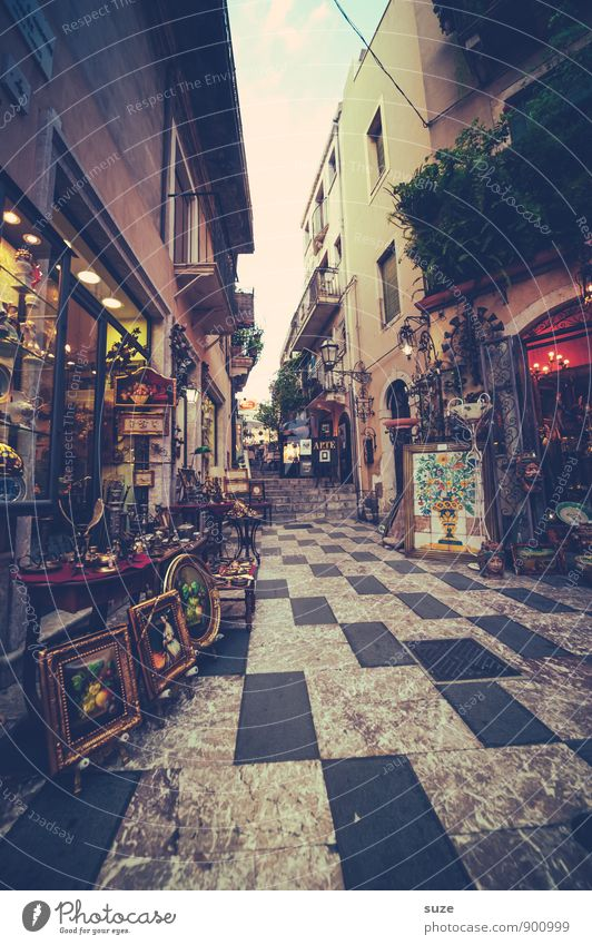 Vacation & Travel Old City Street Architecture Building Style Art Design Decoration Tourism Authentic Culture Footpath Italy Historic