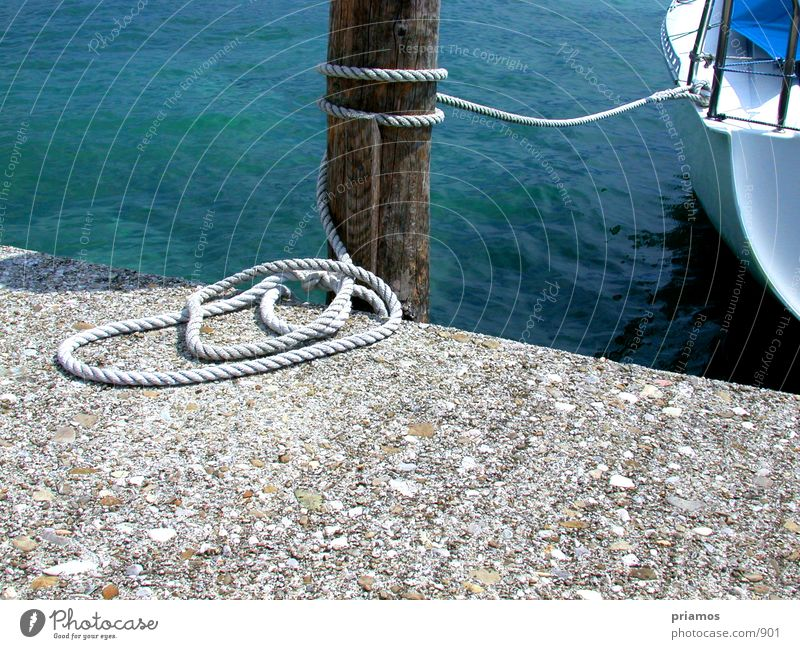 moor Watercraft Drop anchor Footbridge Lake Rope
