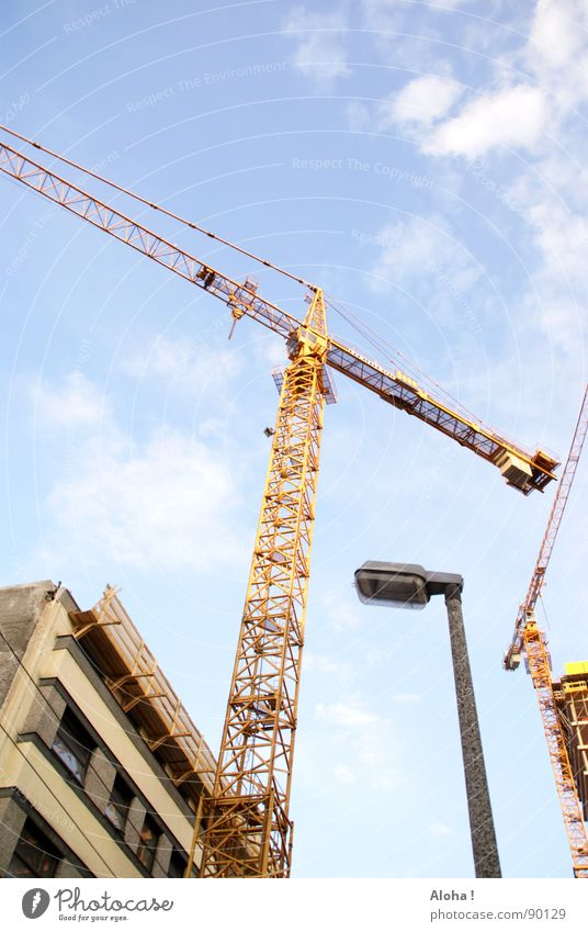 Sky Clouds House (Residential Structure) Building Power Growth Force Planning Industry Construction site Level Logistics Skyline Lantern Vantage point