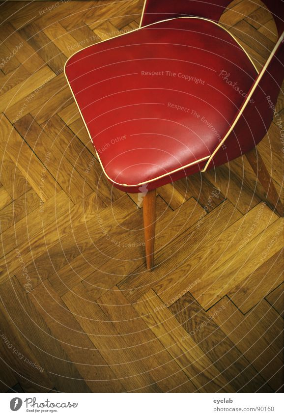 Old Wood Free Empty Retro Chair Floor covering Furniture Leather Hallway Seating Parquet floor Cushion Backrest The fifties Zigzag