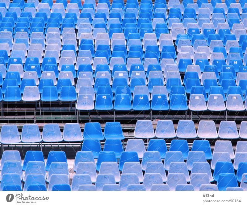 Blue Places Chair Culture Shows Plastic Concert Statue Theatre Stage Cinema Seating Row of seats Block Sky blue Light blue