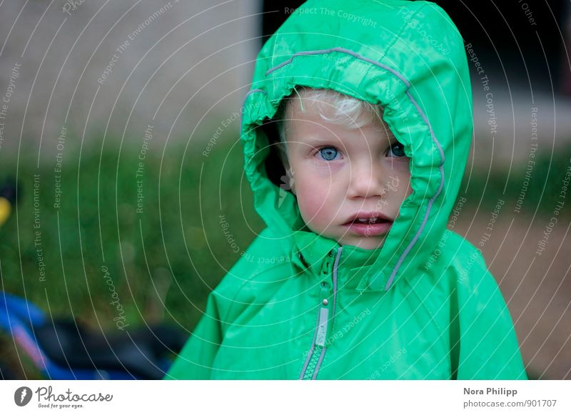 Human being Child Vacation & Travel Face Life Autumn Head Masculine Weather Rain Blonde Infancy Clothing Observe Cute Curiosity