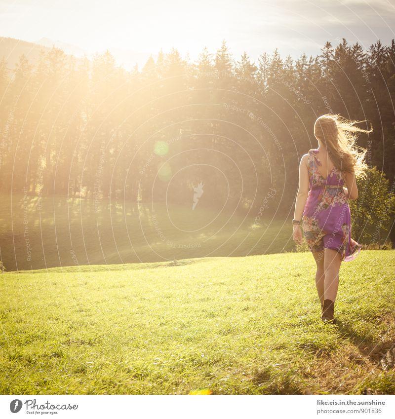 Woman Beautiful Autumn Meadow Feminine To go for a walk Dress Autumnal