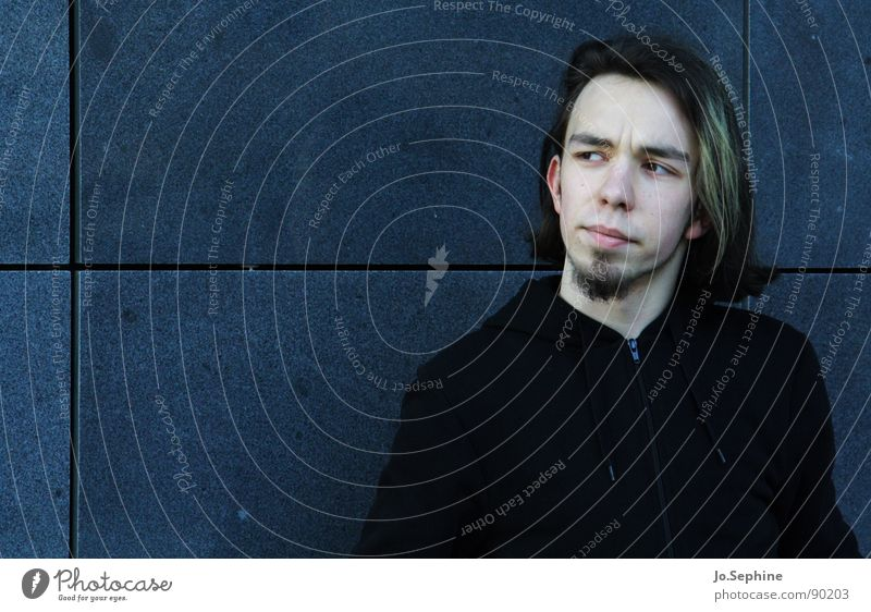gradual collapse of the frontier Young man Adults Youth (Young adults) 18 - 30 years portrait Upper body Facial hair Long-haired Facial expression Looking