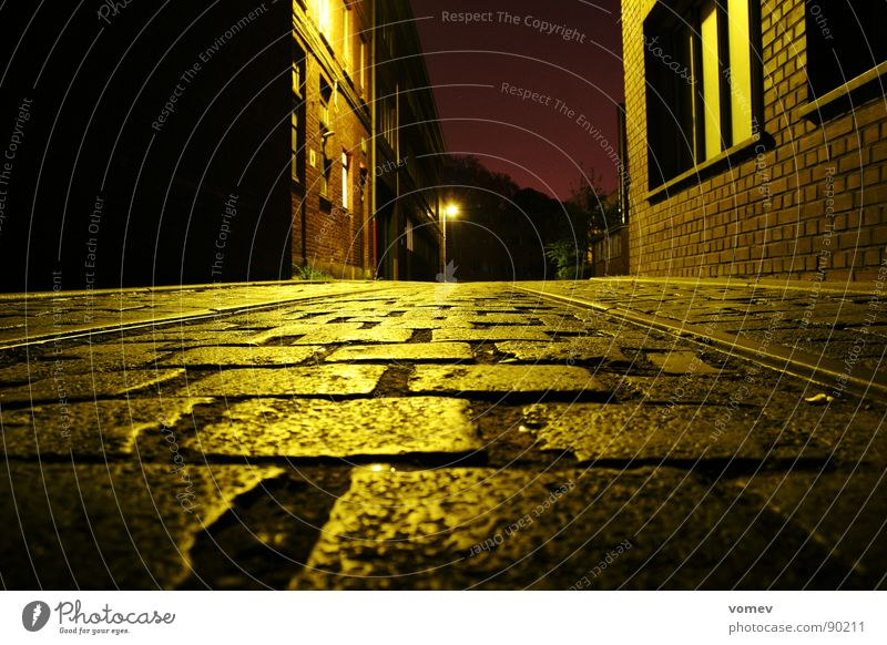 the farm Night Moody Commerce Long exposure Worm's-eye view Industry Cobblestones pavers Reflection
