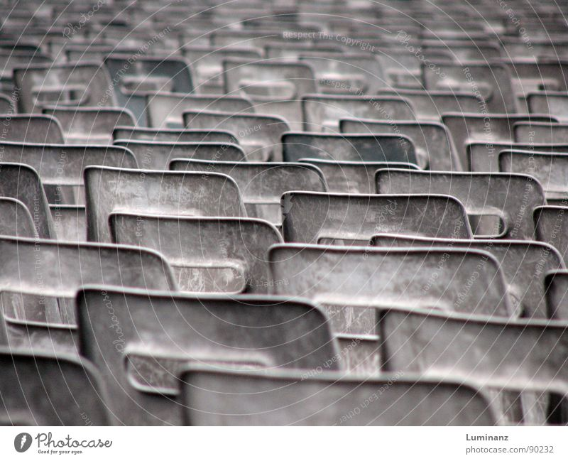 desert of stools Chair Furniture Old Scrap metal Gray Shaky Arrangement Consistent Gloomy Empty Loneliness Catholicism Peter's square Row of seats dismounted