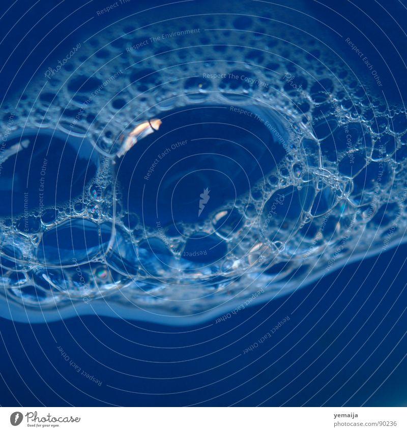 Water Blue Round Fluid Bubble Soap bubble Foam Bubble Soap