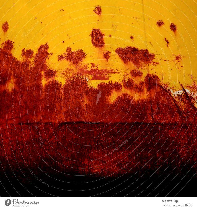 Red Yellow Orange Industry Harbour Transience Rust Rust Pontoon