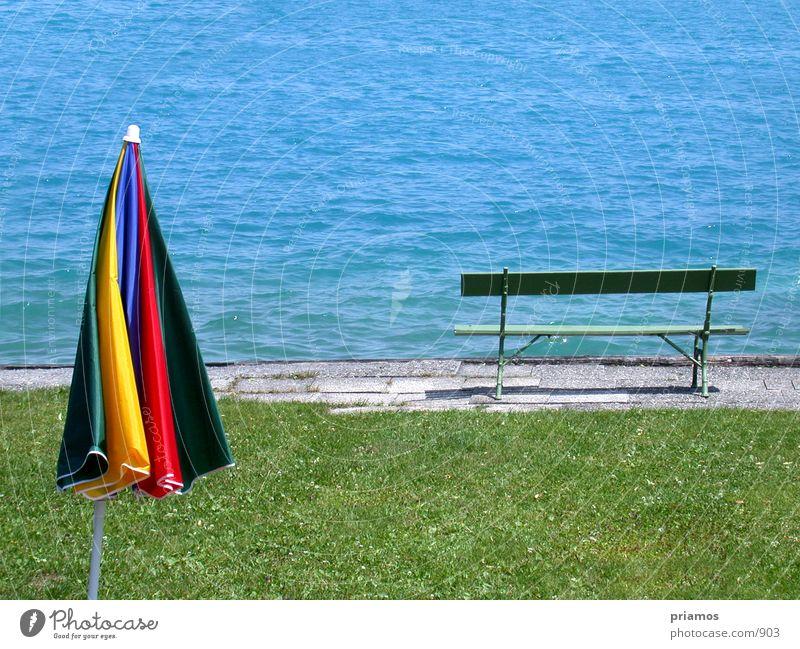 lake Lake Loneliness Summer Bench sunshade