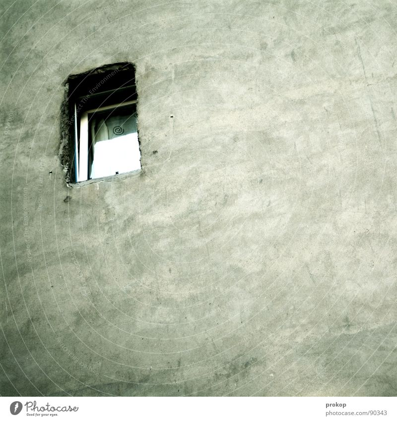 Loneliness Window Architecture Wall (barrier) Background picture Fear Arrangement Modern Living or residing Grief Clean Vantage point Square Hollow Copy Space Captured