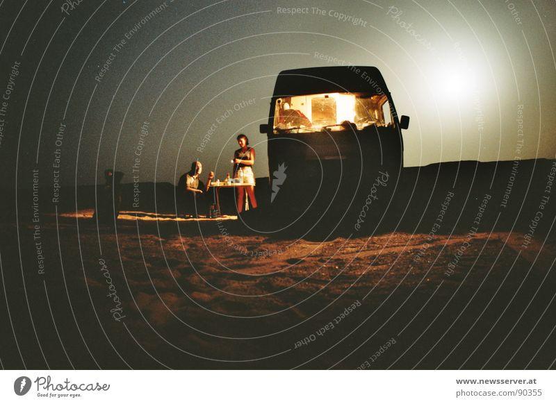 Loneliness Desert Camping Moon Africa Libya Constant light