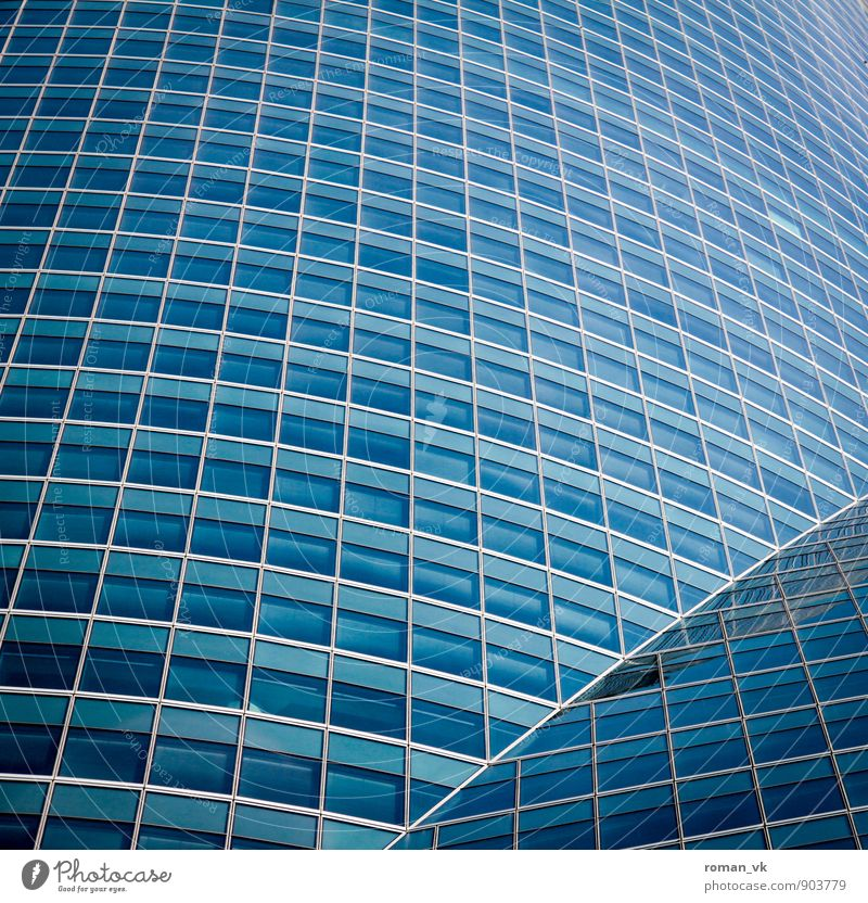 Blue City Window Architecture Building Style Above Work and employment Glittering Facade Business Arrangement Living or residing Elegant High-rise Success