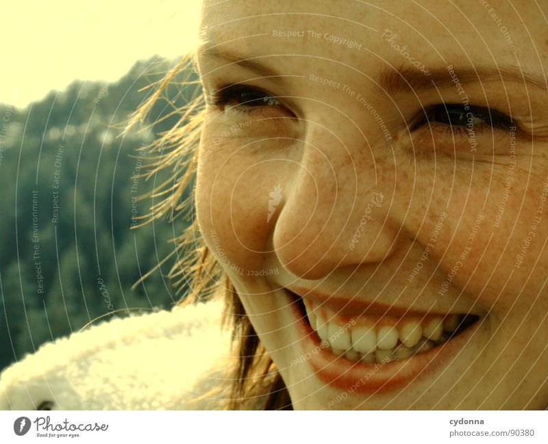 laughing Woman Moody Portrait photograph Happiness Whim Emotions Congenial Snapshot Light Action Human being Laughter Grinning Nature Vantage point Joy