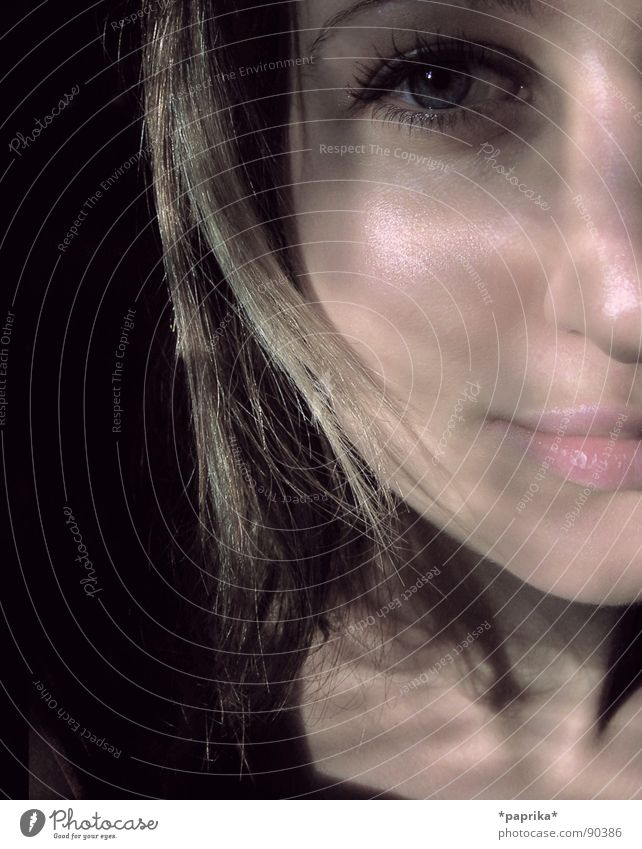 ..just WAITING,.... Portrait photograph Woman eye empty lonely young absence