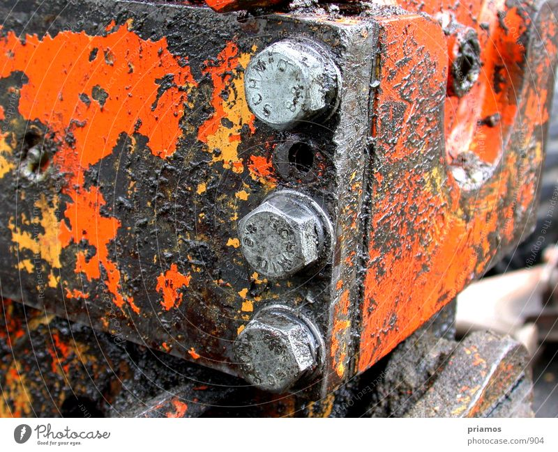 Orange Dirty Technology Rust Crane Screw Excavator Electrical equipment