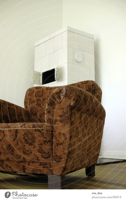 Old Retro Chair Transience Furniture Living room Boredom GDR Past Pallid Fireside Armchair Former
