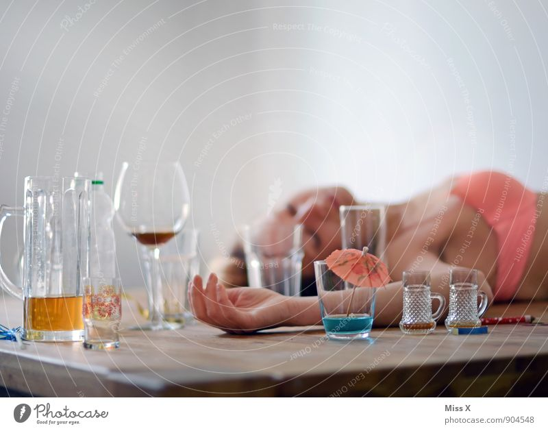 Human being Youth (Young adults) Young woman 18 - 30 years Adults Emotions Feasts & Celebrations Moody Party Body Glass Beverage Drinking Wine Beer Intoxicant