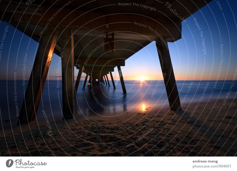 Blue sunset Australia Bridge Manmade structures Contentment Optimism Curiosity Interest Hope Beginning End Discover Relaxation Expectation Eternity Advancement