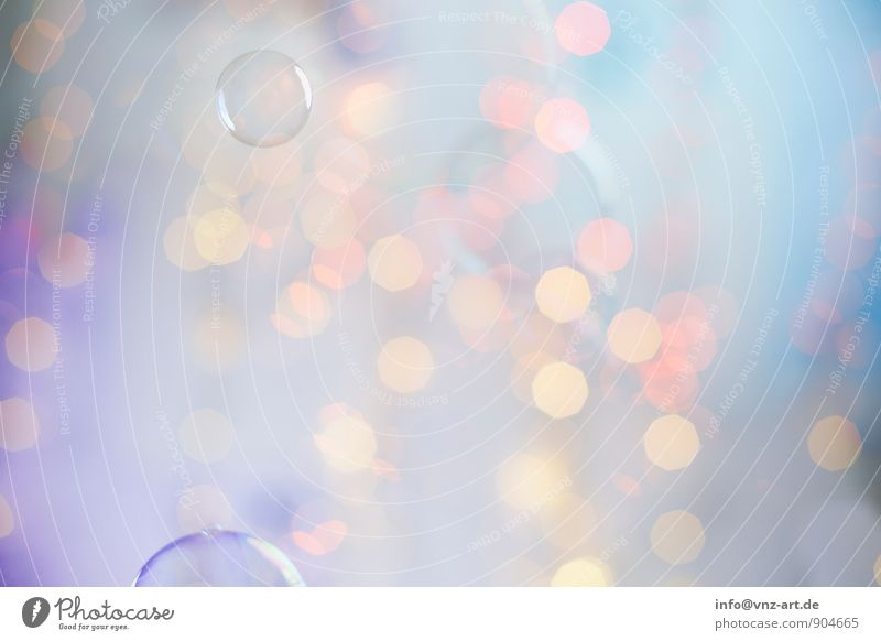 Colour Sphere Glittering Blue Violet Pink Turquoise Fairy lights Christmas & Advent Christmas fairy lights Soap bubble Bubble Colour photo Multicoloured