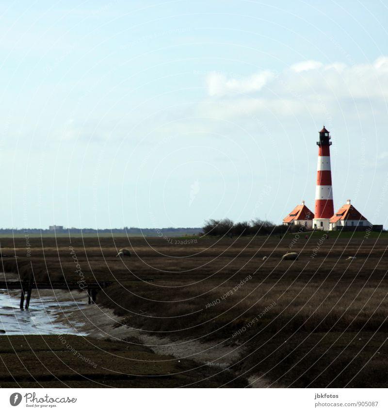 80 / Westerh(J)ever lighthouse Environment Nature Landscape Plant Animal Elements Water Autumn Coast Westerhever lighthouse Germany Europe Lighthouse Monument
