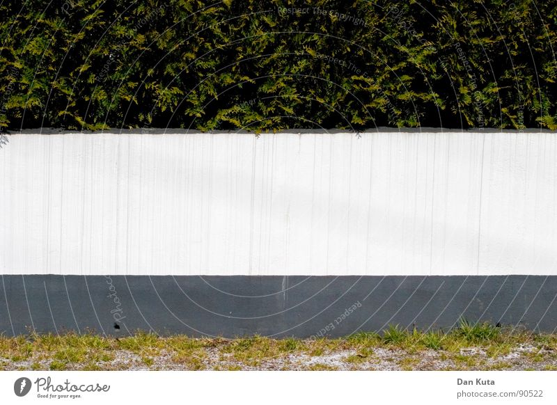 Green strip Wall (building) White Red Gray Meadow Bushes Hedge Geometry Structures and shapes Flat Graphic Ensign Concrete Gravel Garden Park Lawn Illustration
