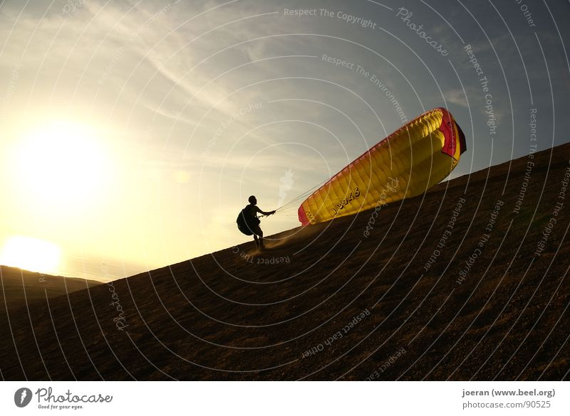 Sports Playing Freedom Beginning Desert Infinity Hover Dusk Paragliding Depart Weightlessness Preparation Extreme sports