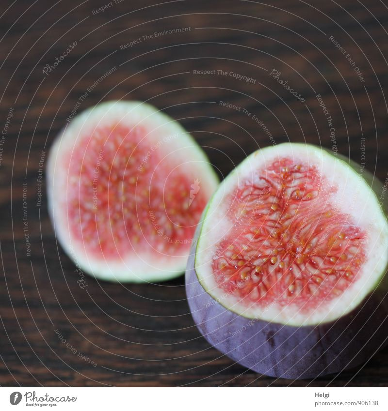 fruity... Food Fruit Fig Nutrition Vegetarian diet Lie Esthetic Simple Fresh Healthy Delicious Natural Brown Violet Pink White Uniqueness To enjoy Fruit flesh
