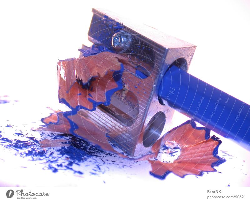 Blue Wood Crayon Sharpener