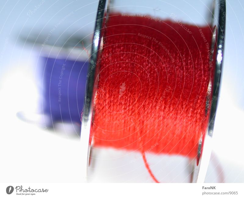 yarn Sewing thread Red Macro (Extreme close-up) Close-up Blue