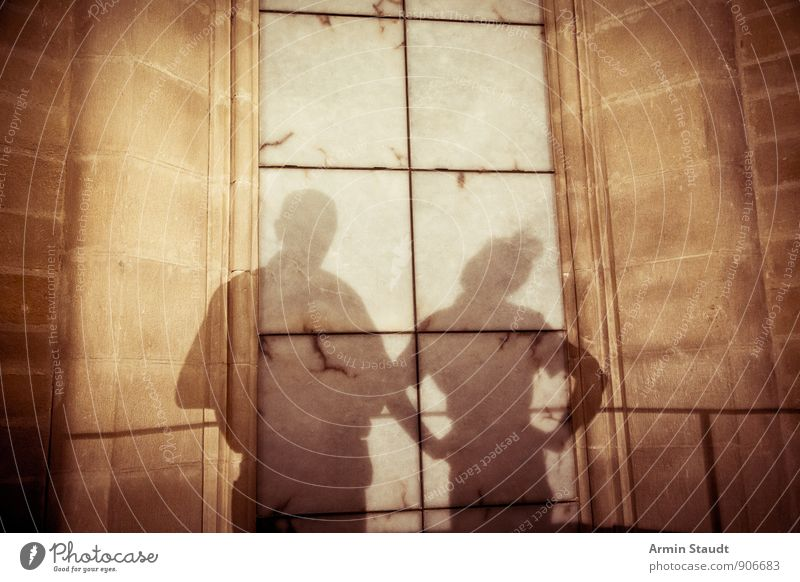 Human being Woman Man Hand Dark Adults Wall (building) Emotions Feminine To talk Wall (barrier) Background picture Brown Couple Together Masculine