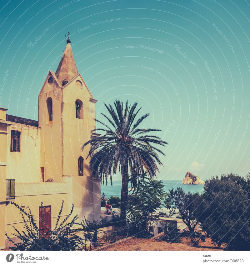 The church in the village Italy Sicily Historic Manmade structures Sightseeing Vacation & Travel Indigenous Idyll panarea Liparian islands Flair Architecture
