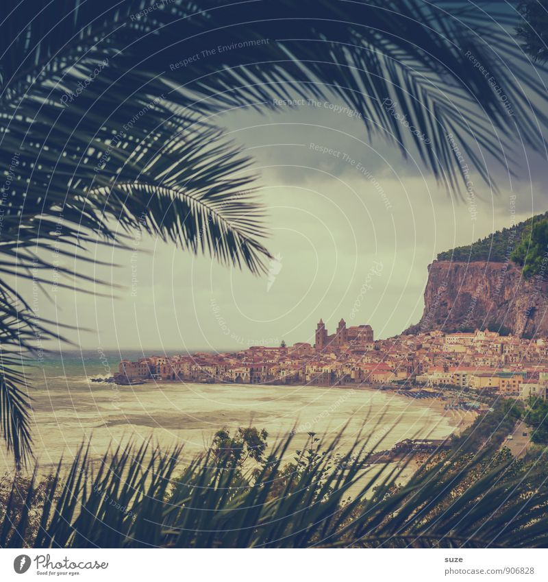 From one life to another. Vacation & Travel Beach Mountain Painting and drawing (object) Environment Nature Landscape Coast Port City Old town Dome Exceptional