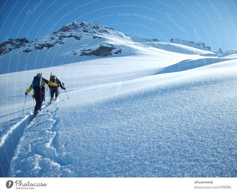 White Winter Sports Snow Playing Mountain Moody Peak Mountaineering Ski tour Snow crystal Winter mood Gran Paradiso