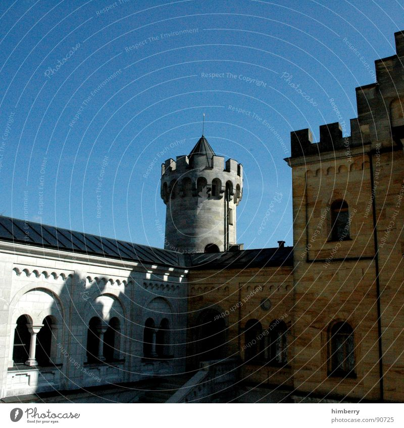 Tower Castle Monument Historic Watchfulness Landmark King Palace Retreat Neuschwanstein Watch tower Royal