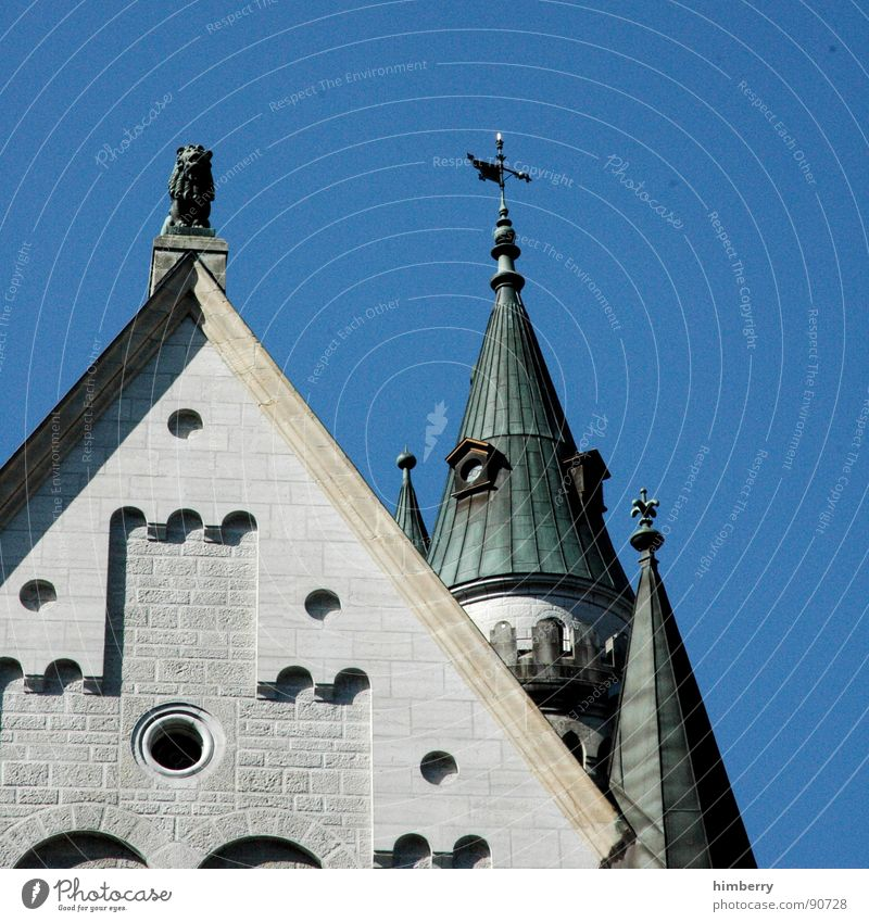 Tower Castle Monument Historic Watchfulness Landmark King Bavaria Palace Retreat Neuschwanstein Watch tower Royal