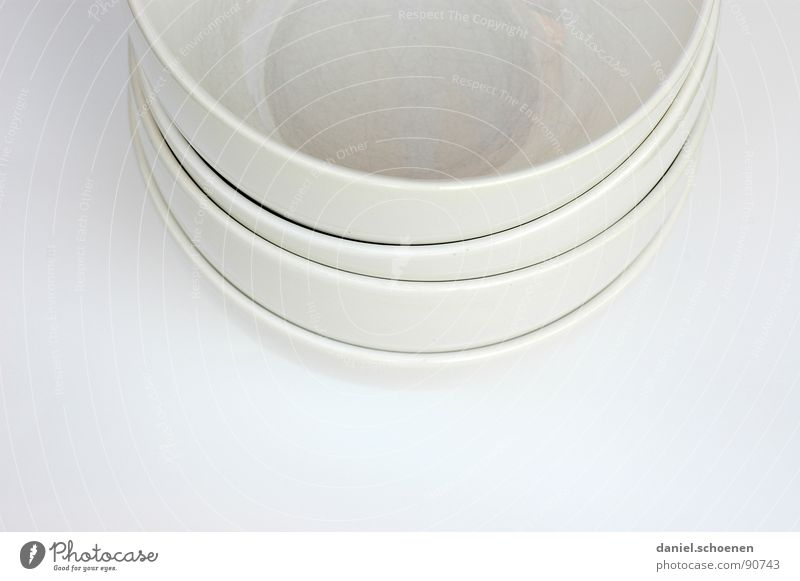 freshly washed Pottery Crockery White Gray Circle Background picture Abstract Decoration Kitchen Bright Line Curve