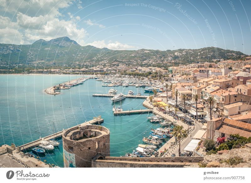 Calvi, Corsica Culture Landscape Earth Air Water Beautiful weather Coast Bay Ocean Island Fishing village Port City Old town Tourist Attraction Far-off places