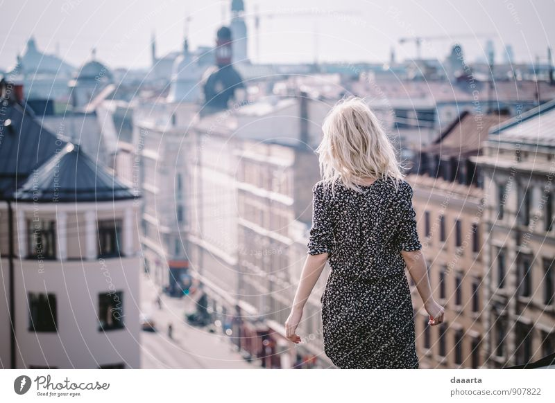 roooftops Elegant Style Joy Life Harmonious Relaxation Leisure and hobbies Trip Adventure Freedom Flirt Feminine Riga Latvia Capital city Skyline Roof Simple