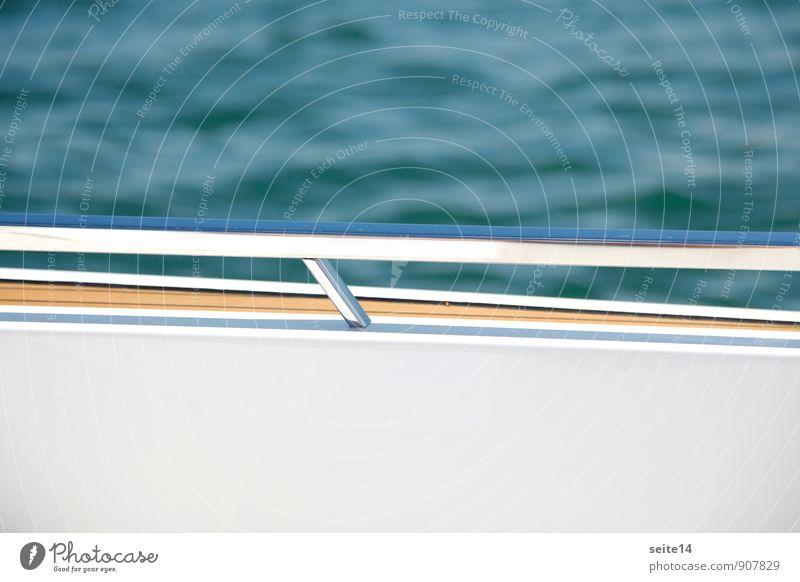 Blue Water White Sun Ocean Lake Watercraft Waves Modern Driving Handrail Navigation Luxury Railing Yacht Aluminium