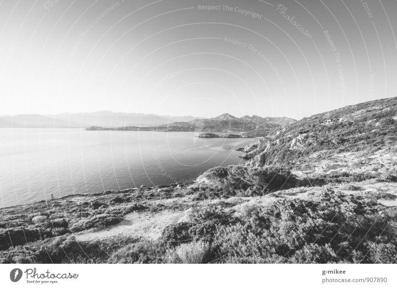 island landscape Nature Landscape Earth Water Sky Rock Far-off places Large Island Corsica Mediterranean sea Vacation destination Vantage point