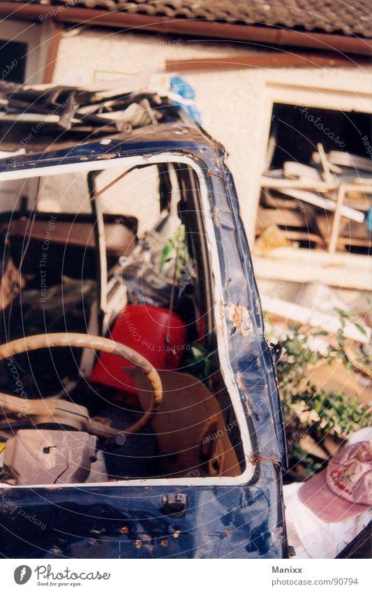 Garden Car Trash Derelict Rust Scrap metal Tidy up Bulge Bruised